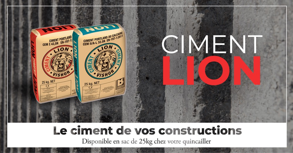 Bandeau promotionnel Ciment Lion