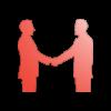 Icône representant deux personnes se serrant la main